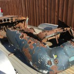 dirtyoldcars.com 1956 Porsche 356A Shell Found in Napa 8