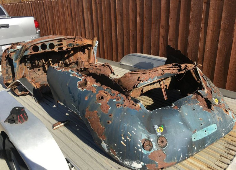 dirtyoldcars.com  1956 Porsche 356A Shell Found in Napa   1