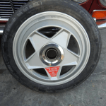 dirtyoldcars.com Ferrari Testarossa Center Lug Spare Wheel Found in Los Angeles 7