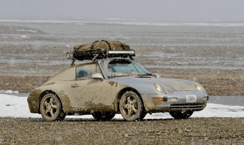 dirtyoldcars.com 1995 Porsche 993 LA to Alaska Trek For Sale 12