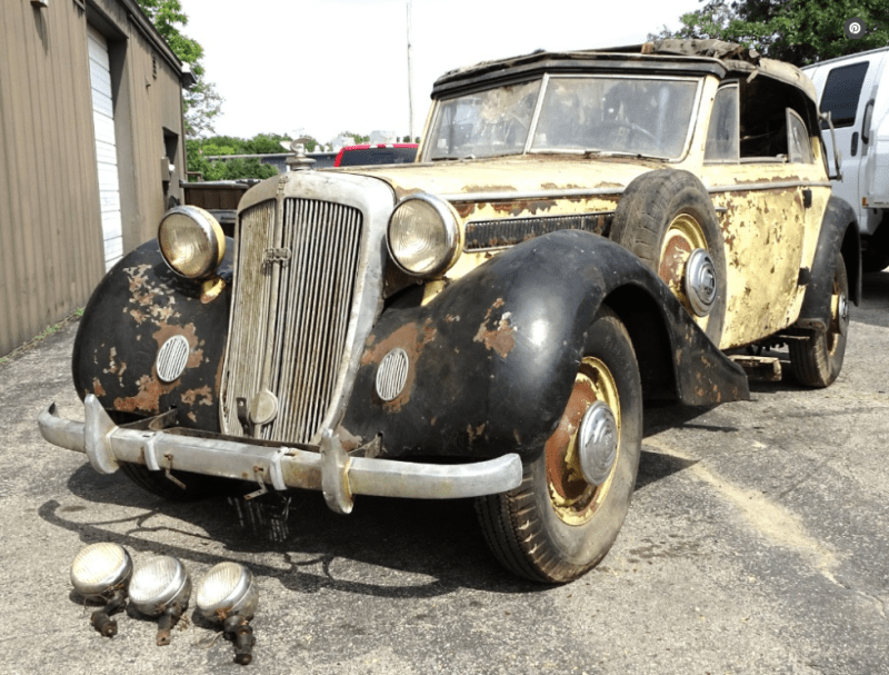 dirtyoldcars.com  1937 Horch 930 V Cabriolet Found in New York   4