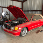 dirtyoldcars.com Custom 1986 Mercedes 560SEC R. Lee Ermey Found in Palmdale 8