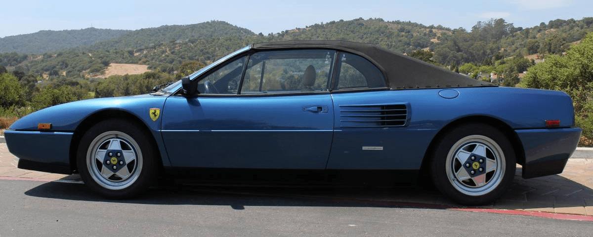 dirtyoldcars.com 1991 Ferrari Mondial T Convertible Found in San Rafael California 9