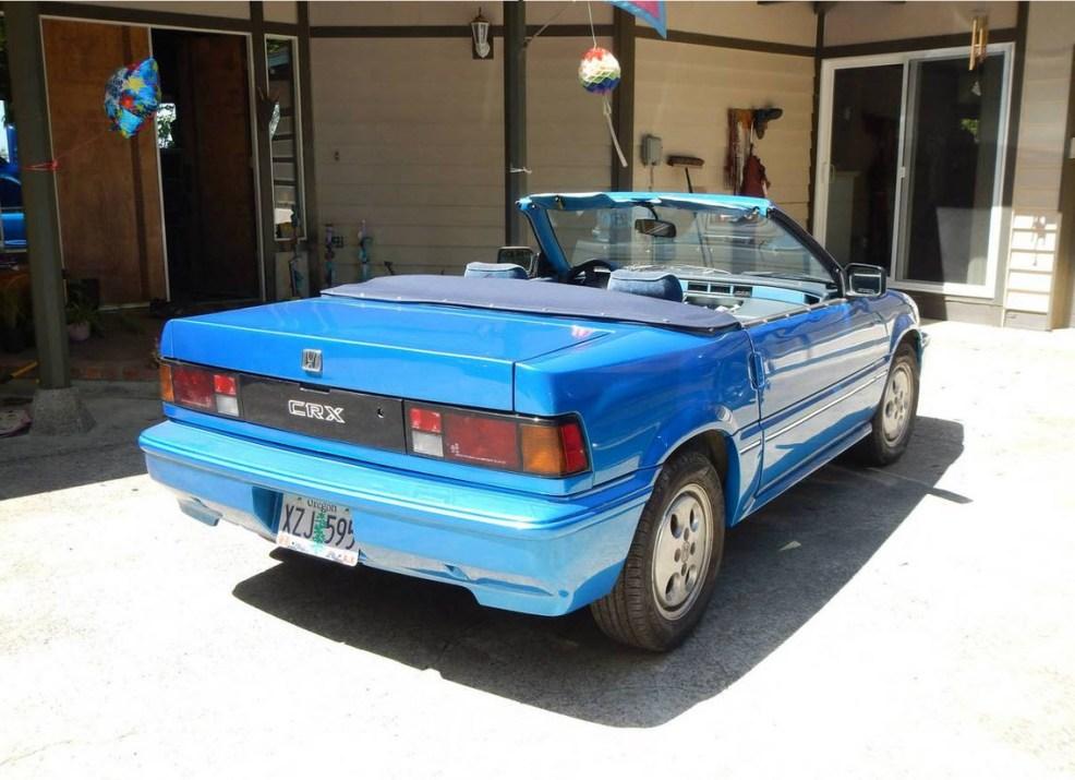 dirtyoldcars.com 1987 Honda CRX Convertible Found in Oregon 4