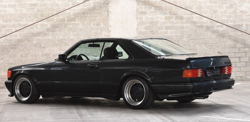 dirtyoldcars.com 1989 Mercedes 560 SEC AMG 6.0 Wide Body For Sothebys Auction Amelia Island 4