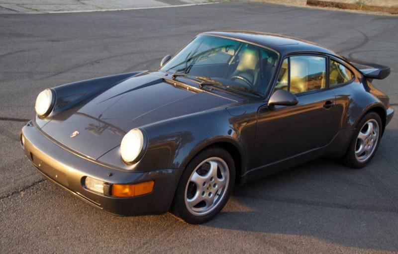 dirtyoldcars.com 1991 Porsche 964 Turbo Found in Tarzana 911 Turbo Slate Grey California 5
