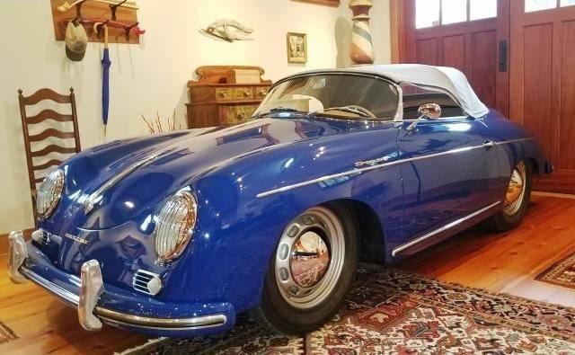 dirtyoldcars.com 1955 Porsche Pre-A Speedster Blue new york city 1