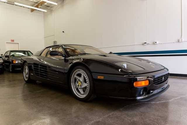 dirtyoldcars.com   1995 ferrari 512M black  tan  39k miles   4