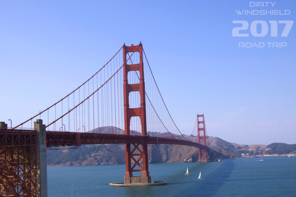 Vibrant Golden Gate Bridge, San Francisco, Dirty Windshield Road Trip