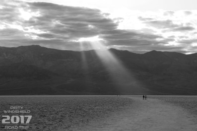 Light Beam (B&W), Badwater Basin, Death Valley National Park