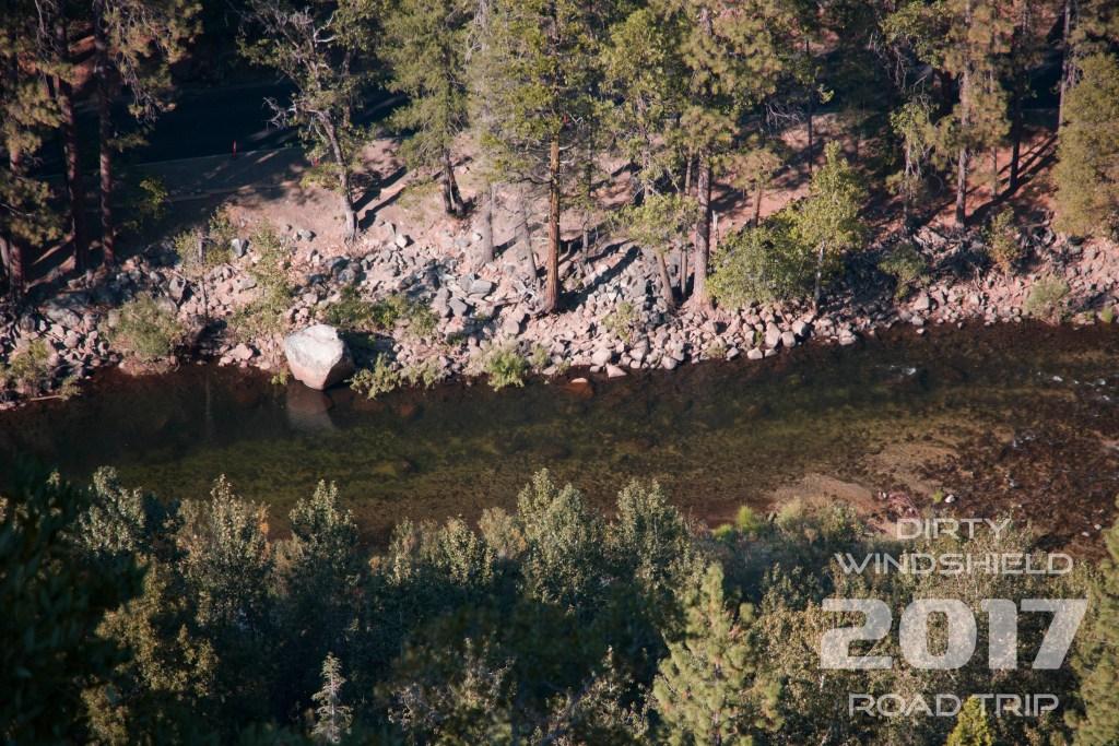 Stream running through Yosemite, Dirty Windshield Road Trip