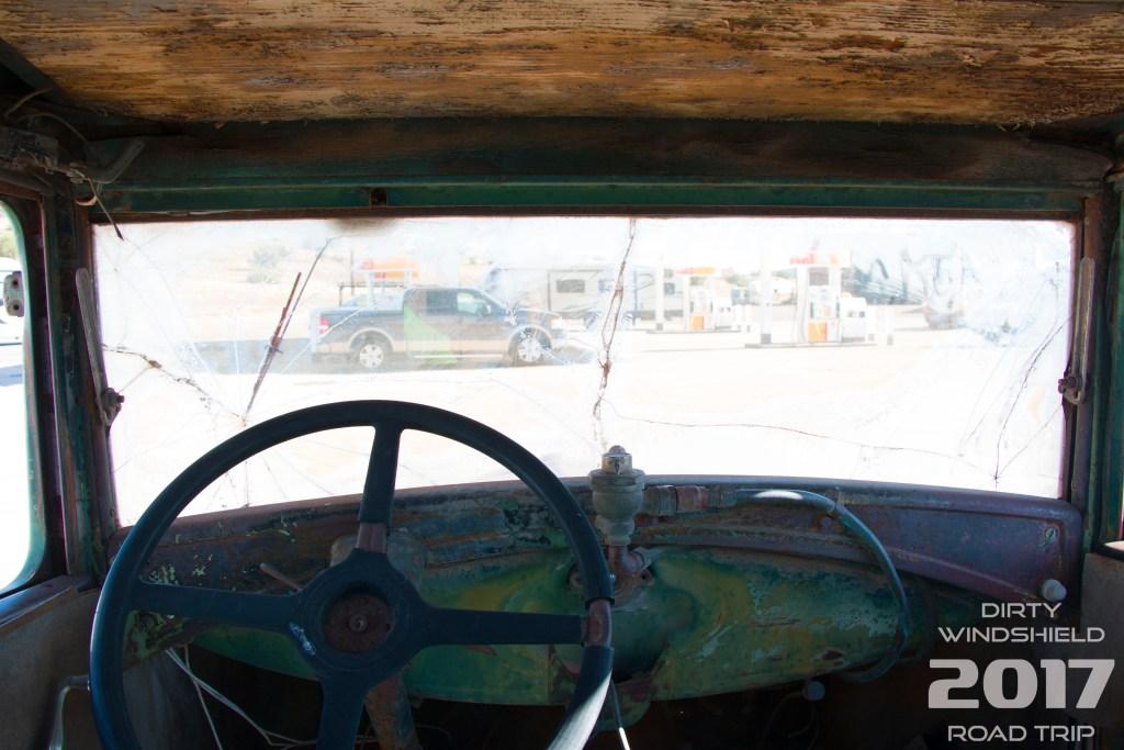 Through Broken Glass Car Arizona