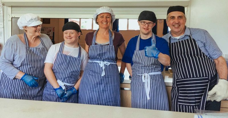 Trainee bakers with learning disabilities at Step and Stone