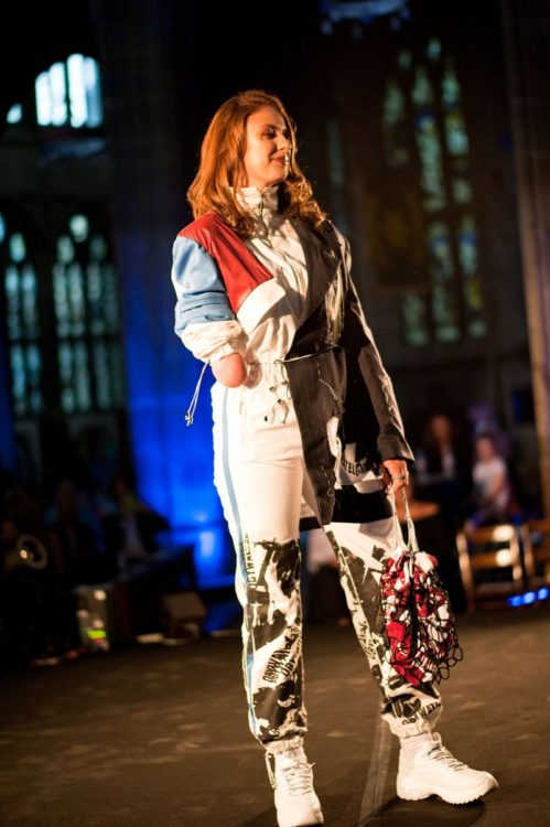 Lucy Martin on catwalk at Fashanne Awards