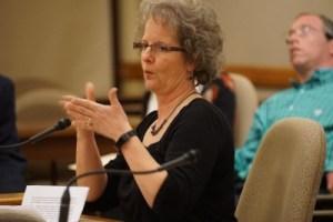 Denise Johnson testifying for AB168