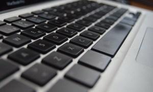 Black computer keyboard.