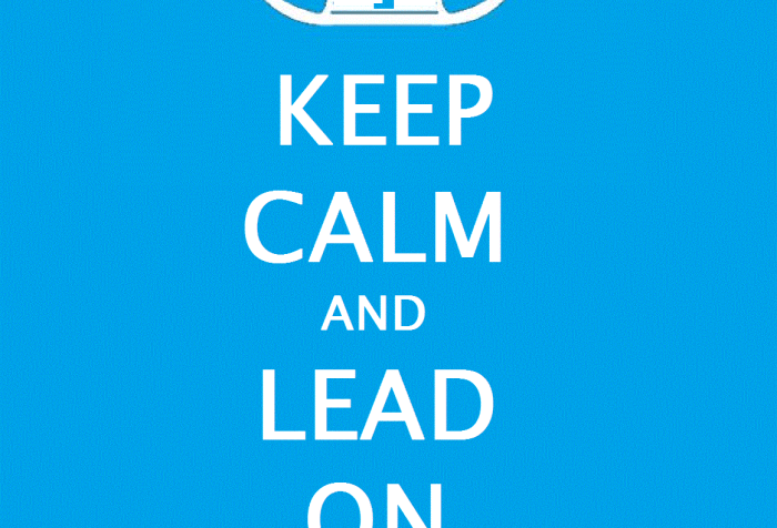 Image of a stetson cowboy hat above the following text: Keep Calm and Lead On