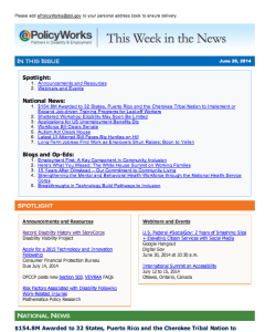 "Screen Shot from ePolicyWorks.org on June 26, 2014 featuring an article titled, ""Record Disability History with StoryCorps"" among other news items."