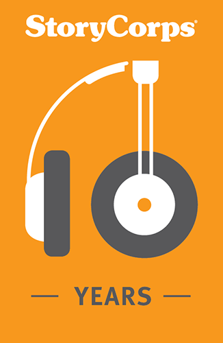 Image of a set of headphones shaped in the number 10, with the text: