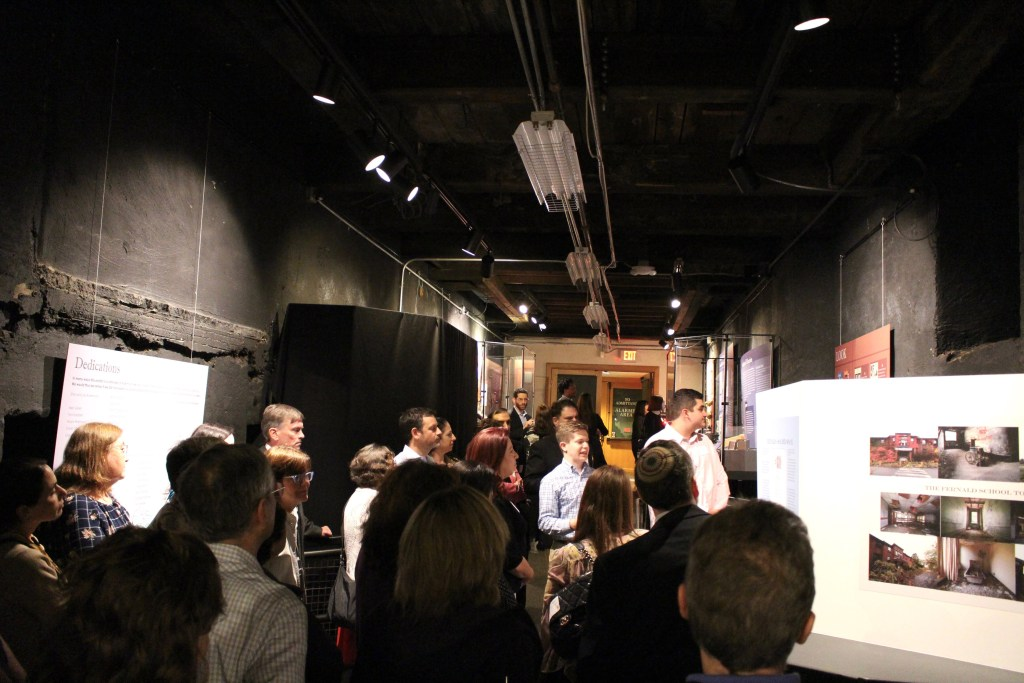 Students from Gann Academy's 11th Grade US History class lead a tour of their exhibit on disability history at the Charles River Museum of Industry and Innovation. Photo courtesy of Gann Academy. Photo credit: Maya Wainhaus