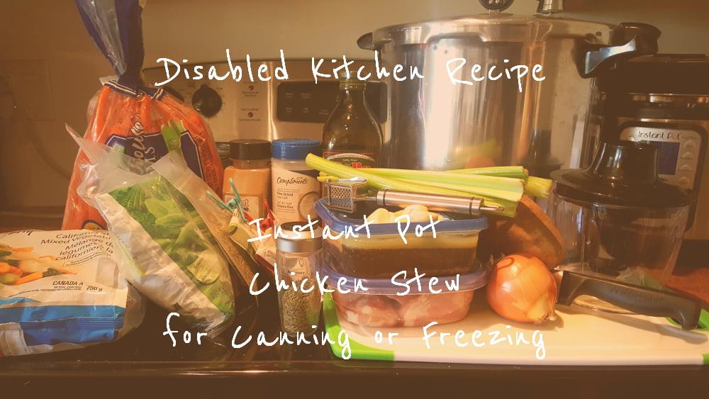 Instant Pot Chicken Stew title card