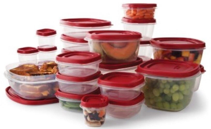 Rubbermaid Easy Find Lid BPA-FREE Plastic Food Storage Containers Set 50 Pc. 1