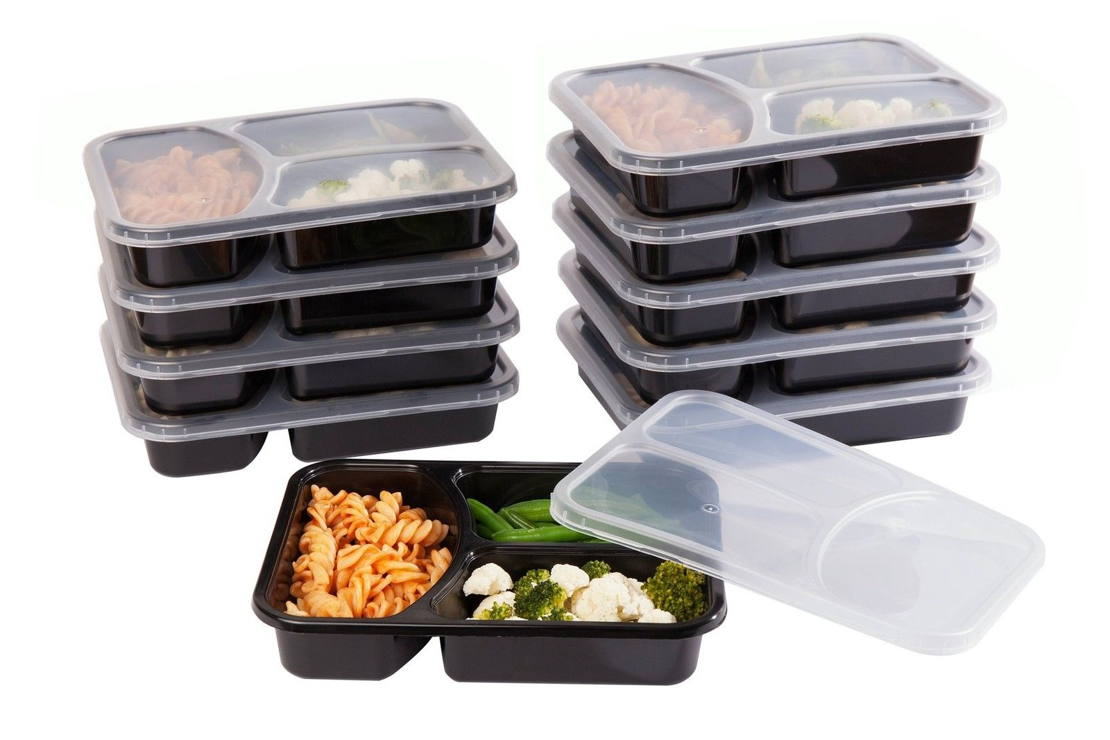 SET of 10 Reusable-Easy To Clean Lunch Kit Food Storage Containers for Adults 1