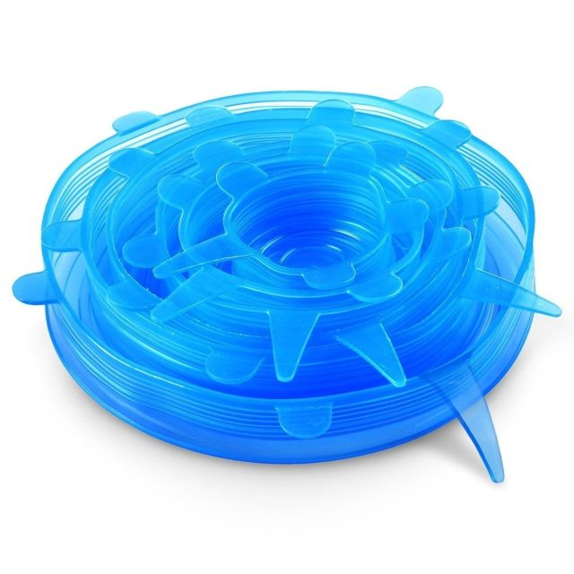 NEW Orblue Silicone Stretch Lids, 6 Pack Reusable Covers, Food Saver | Storage 5