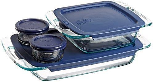 Pyrex Easy Grab 8-Piece Glass Bakeware and Food Storage Set 1