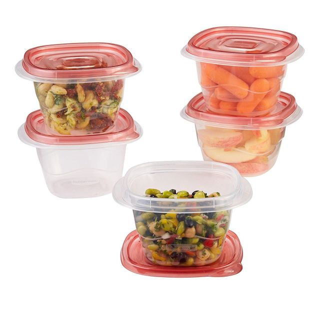 Rubbermaid TakeAlongs Food Storage Container Square & Deep 5-Set 5.2cup Capacity 1