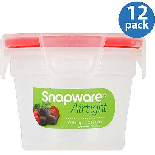 Snapware Airtight Plastic 0.5 Cup Nesting Food Storage Container Bowl, 12 Pack 1
