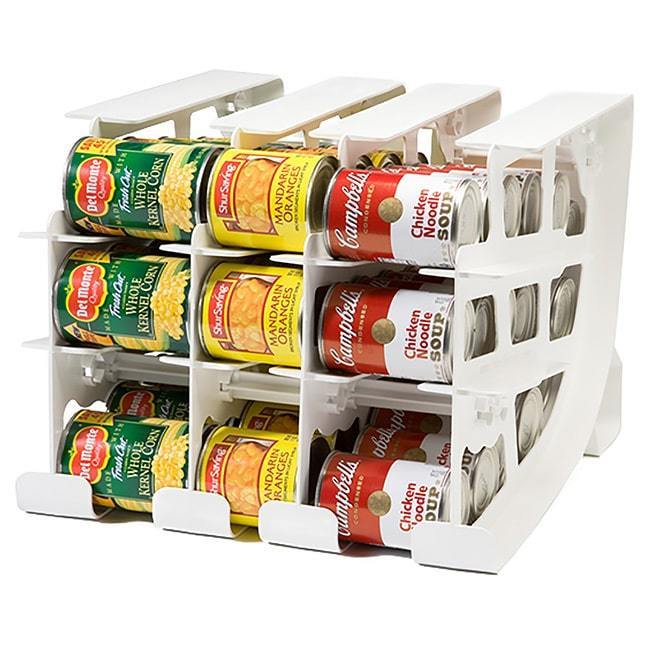 Canned Food Storage Rack Organizer Pantry Kitchen Cabinet Holder Cupboard Shelf 1