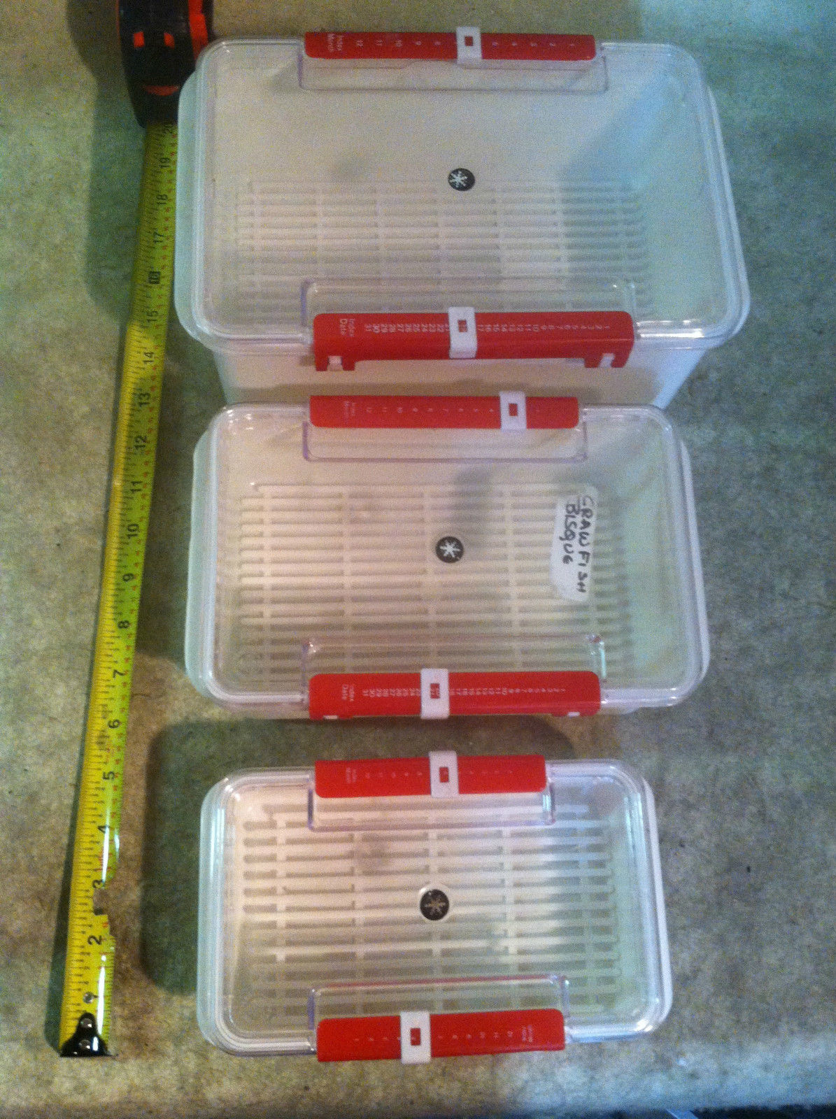 Food storage containers that can be dated - please see pictures....(shelf#A6) 1