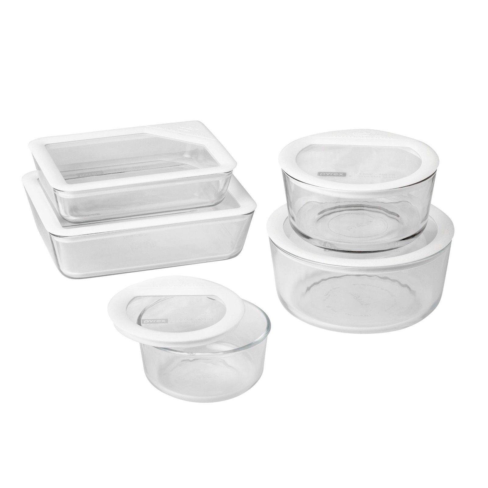 Pyrex 1122762 Ultimate Bridal 10 Piece Glass Food Storage Set With Lid, BPA Free 1
