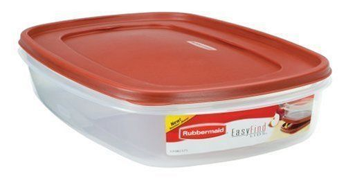 Rubbermaid Easy Find Lid Food Storage Container, BPA-Free Plastic, 1-1/2 Gal 1