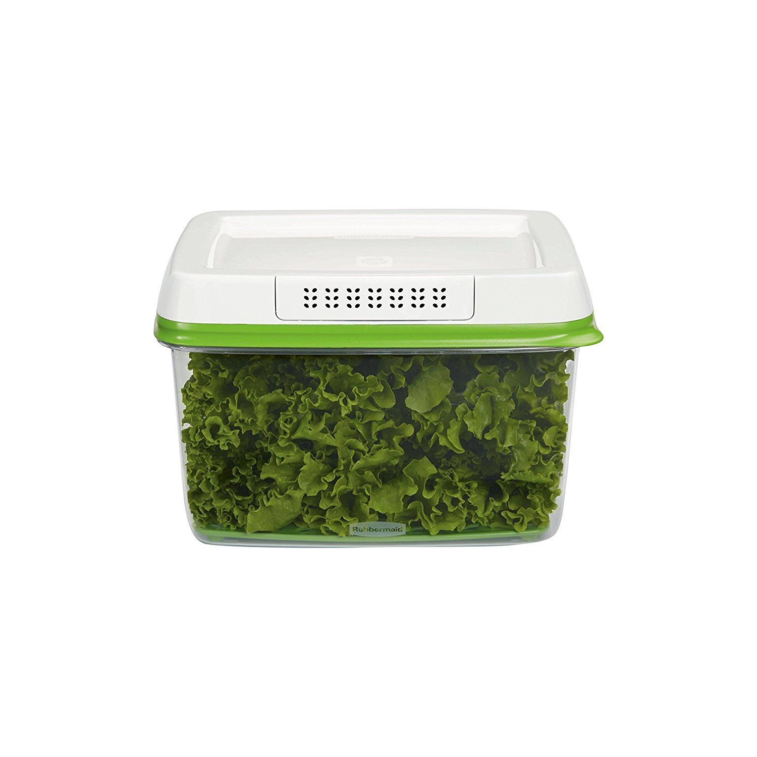 Rubbermaid FreshWorks Produce Saver Food Storage Container, Large, 17.3 Cup, Gre 1