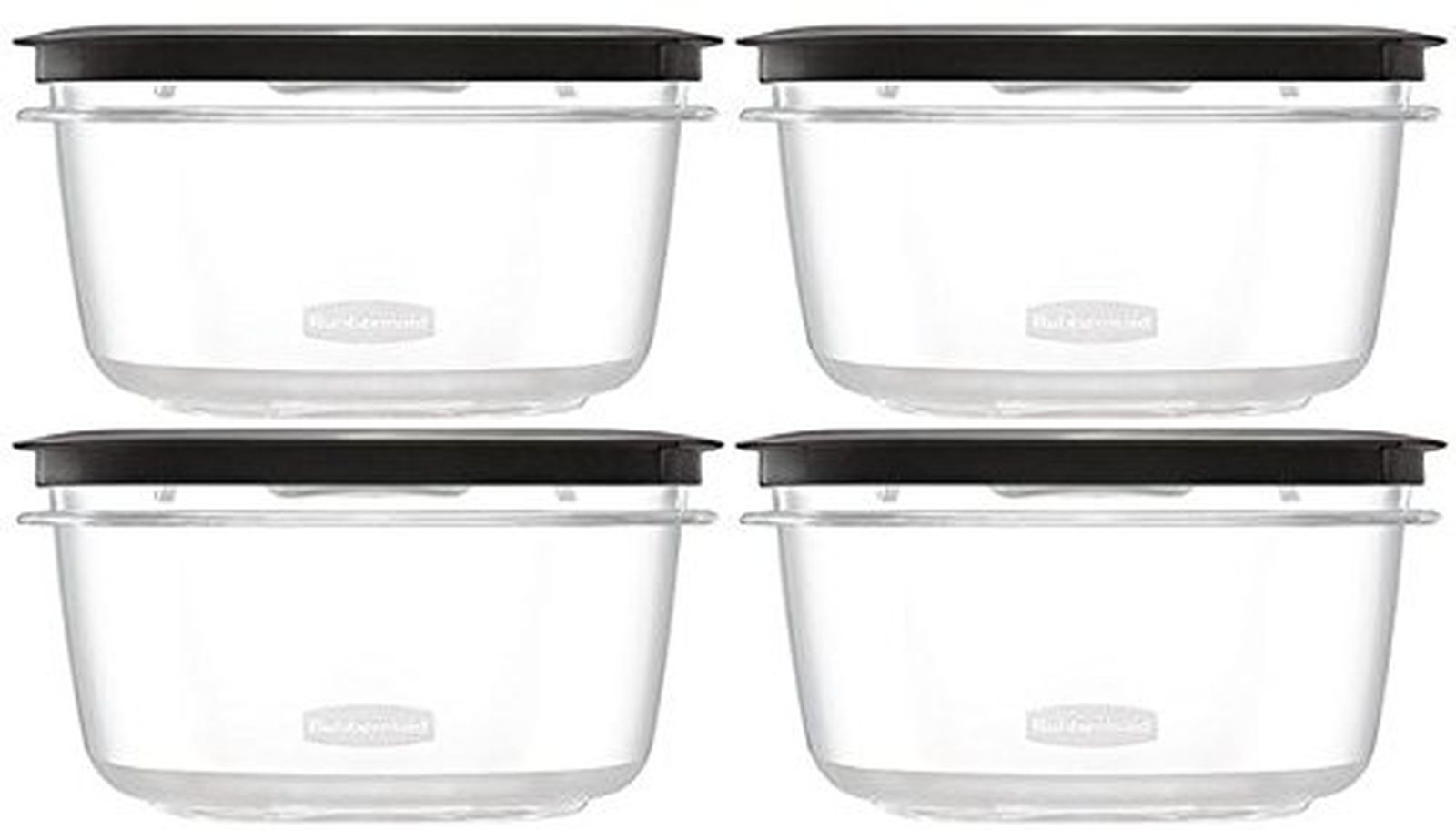 Rubbermaid Premier Food Storage Container, 4 Pack, 5 Cup, Grey 1