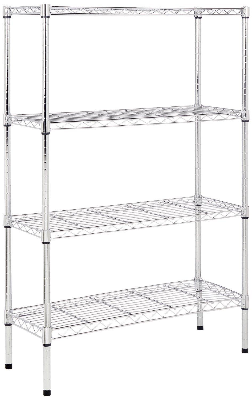 Wire Shelving Unit Kitchen Rack Food Storage Garage Closet Office Home Metal 1
