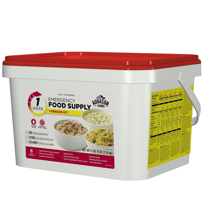 Augason Farms 1 Week 7 Day Pail Emergency Food Supply Storage Kit One Person 1