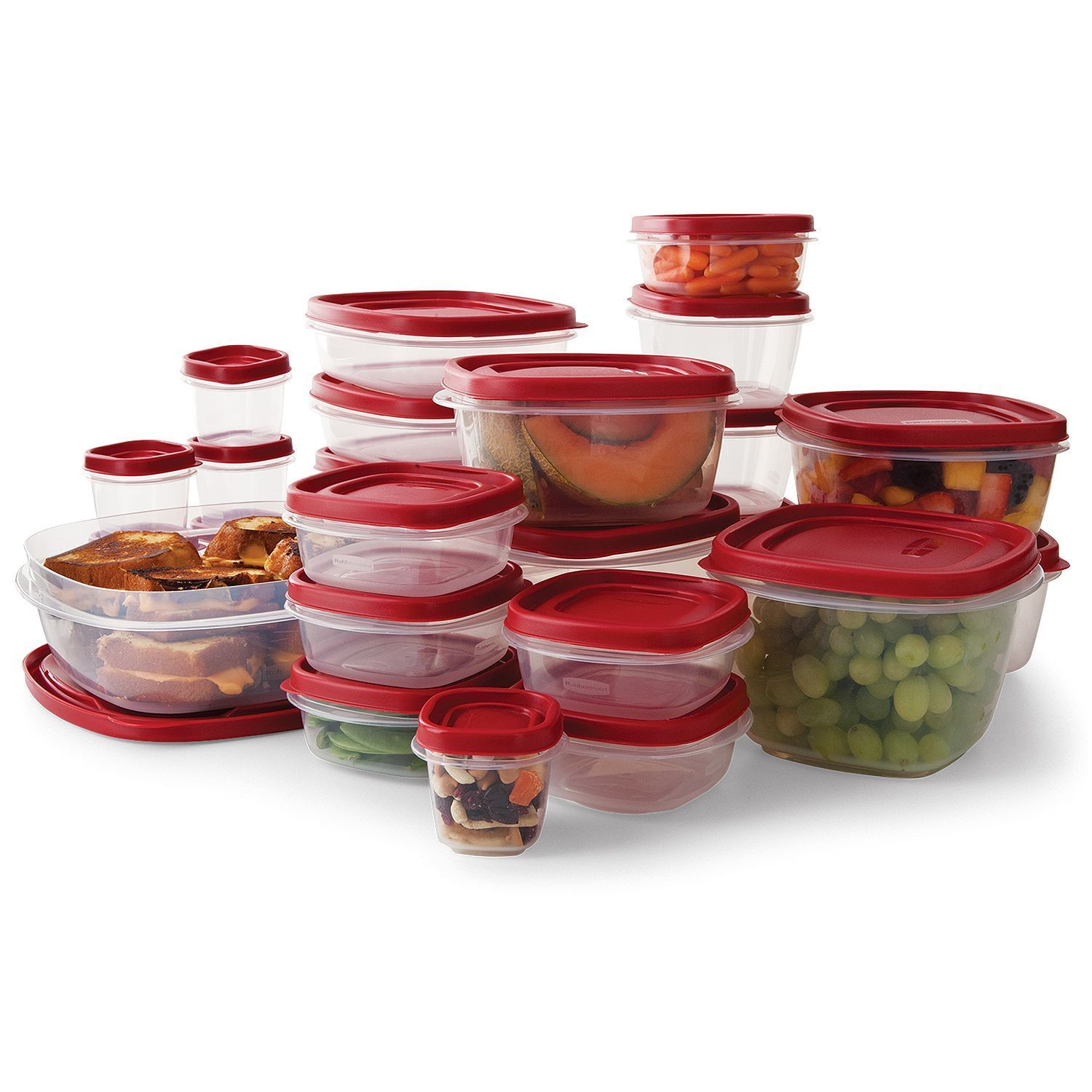 Rubbermaid Easy Find Lid BPA-FREE Plastic Food Storage Containers Set 50 Pc 1