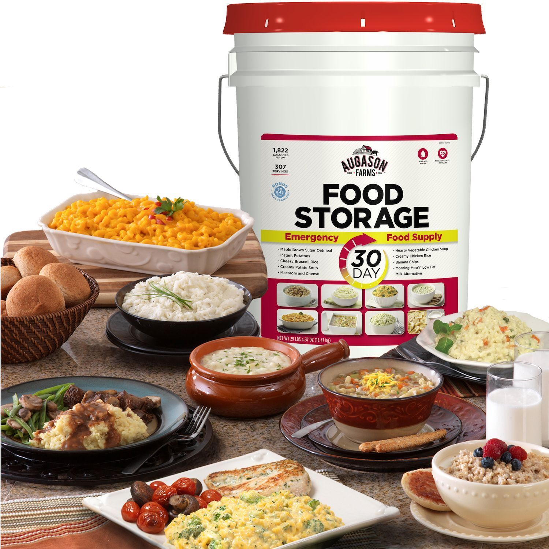 307 Servings 30Day Food Storage Emergency Supply Bucket Rations Kit Survival mre 1