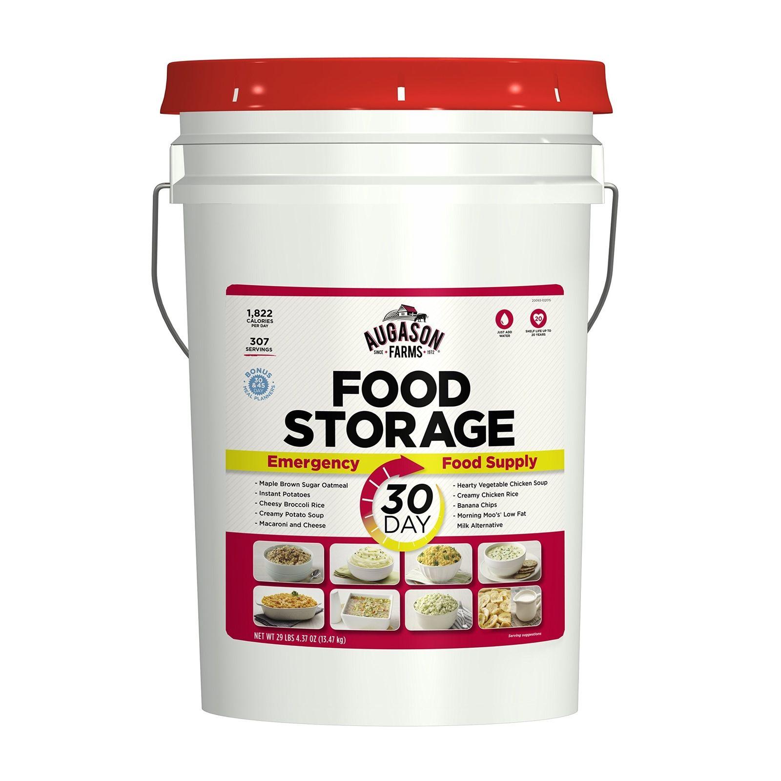 Augason Farms 30-Day Emergency Food Storage Supply Pail 1 pail 1