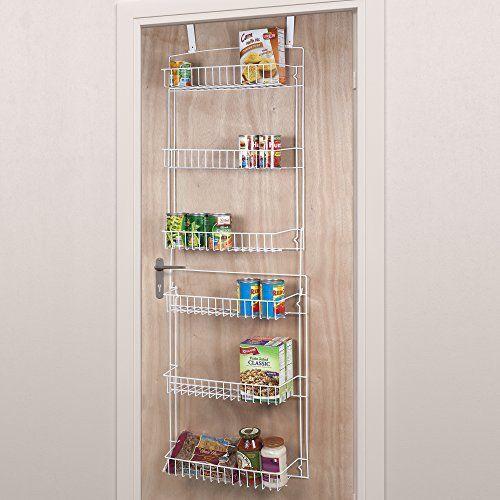 Over The Door Storage Rack 6 Shelves Kitchen Pantry Food Spice Hanging Organizer 1