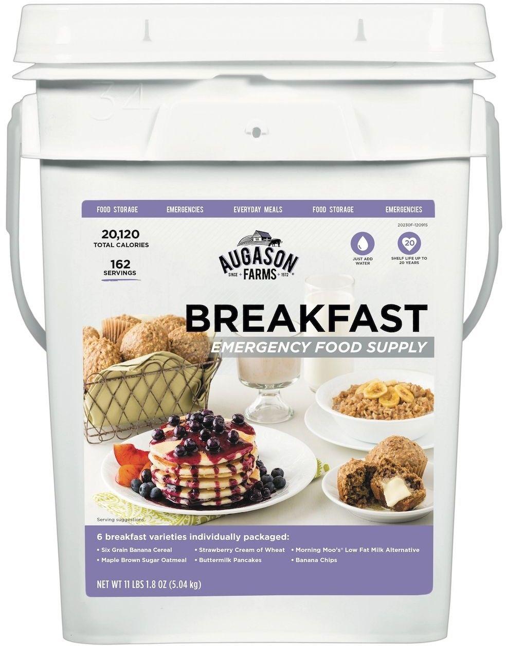 Emergency Food Storage 162 Servings Supply Dried Food Supplies Breakfast Pail 1
