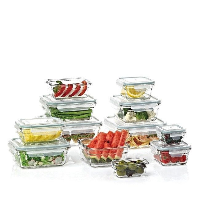 Food Storage Containers with Lids Glass BPA Free Set Airtight Glasslock 24 piece 1