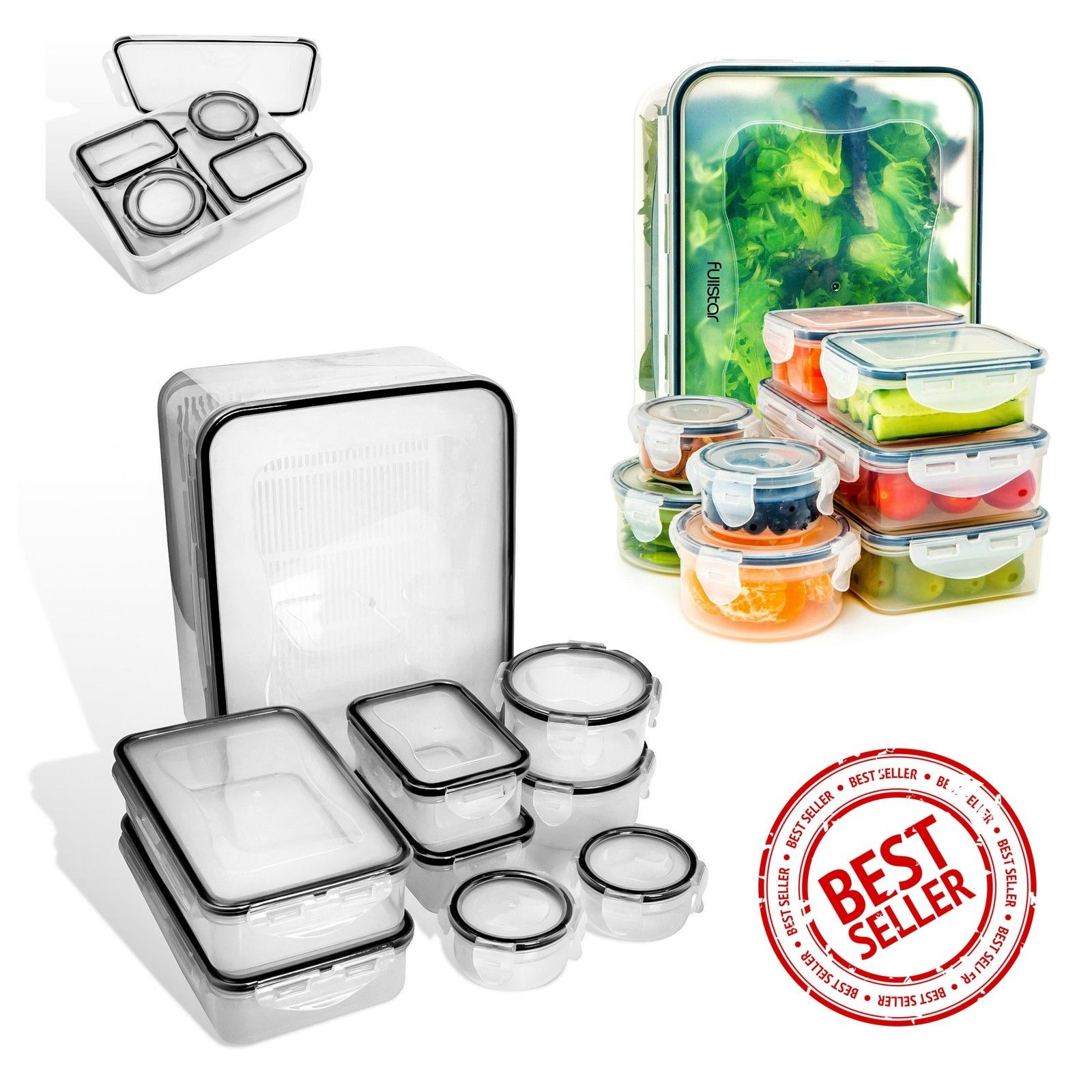 18Pc Food Storage Containers With Lids Airtight Leakproof Lock Kitchen Container 1