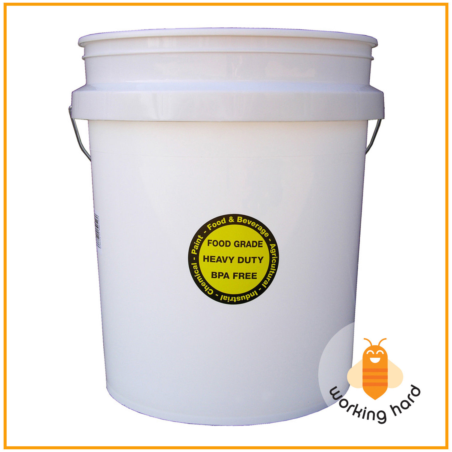 COMMERCIAL PLASTIC BUCKET 5 Gallon Durable All Purpose Food Grade Paint Storage 1