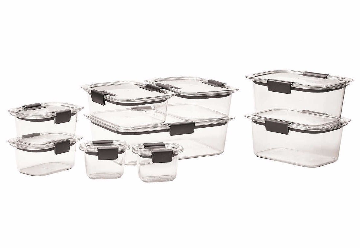 Rubbermaid Brilliance Microwavable 18-piece Food Storage Set (BPA-Free, Safe) 1