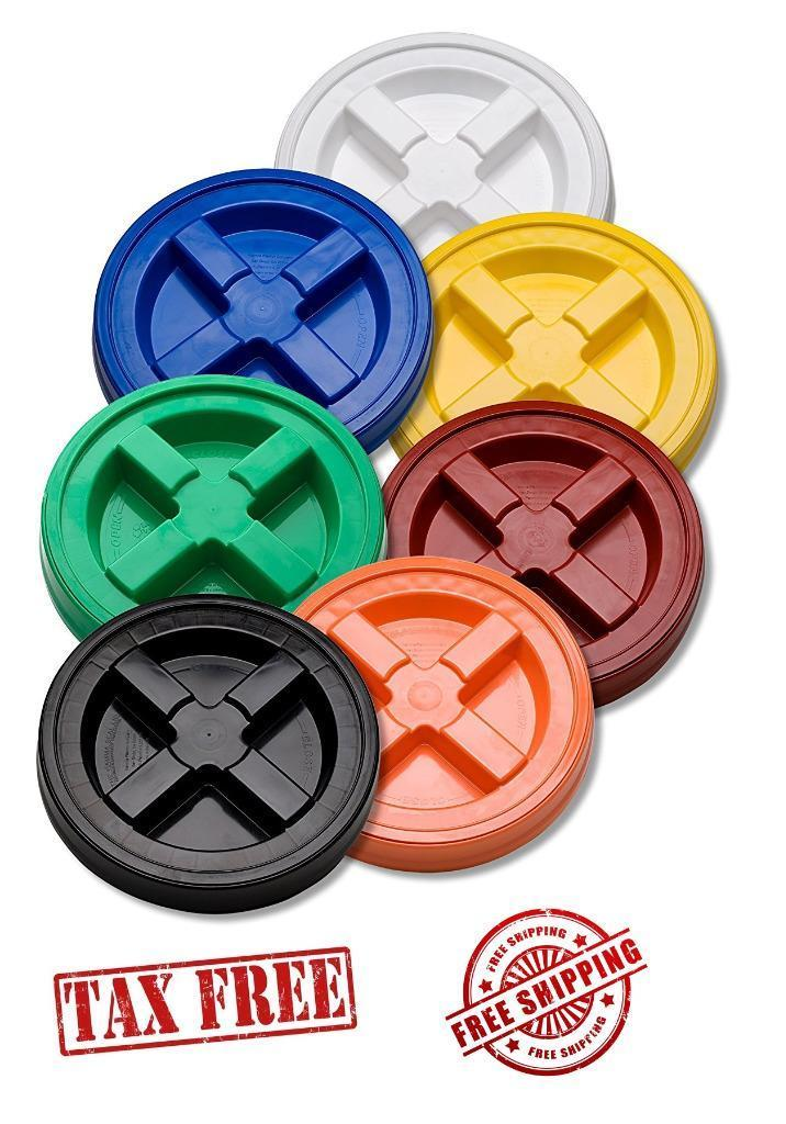 SOLID SEAL SCREW ON 5 GALLON BUCKET LIDS - AIR & WATER TIGHT - FOOD STORAGE, ETC 1