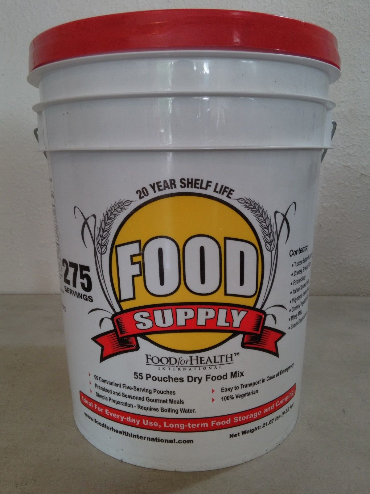 275 Servings 30Day Food Storage Emergency Supply Bucket Rations Kit Survival mre 1